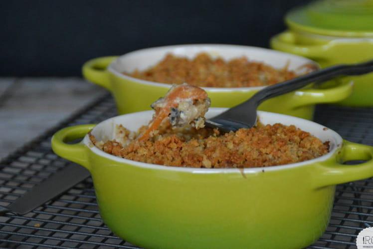 Daurade carotte champignon et son crumble
