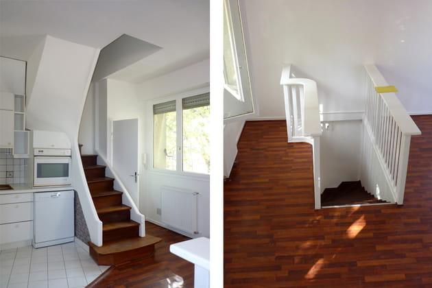 Avant : de petits escaliers mal placés