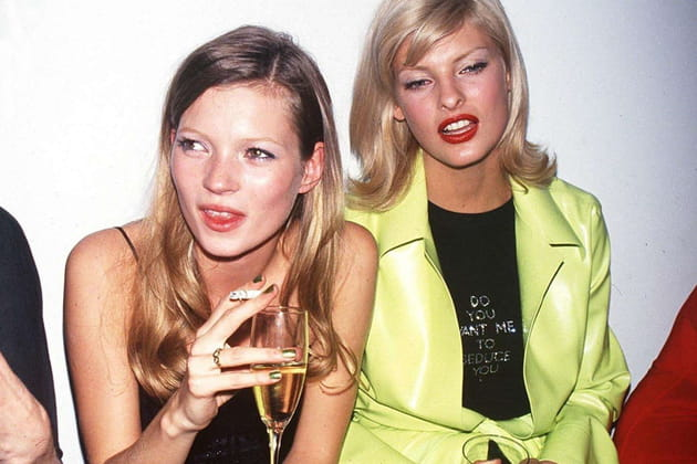 Kate Moss et Linda Evangelista le 15juin 1994