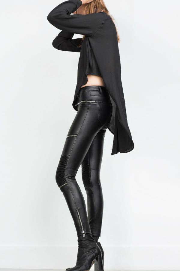Pantalon en similicuir de Zara