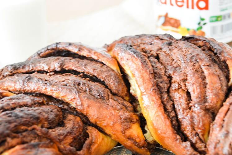 Brioche couronne torsadée au Nutella