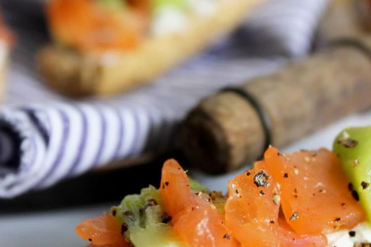 Tartines saumon - kiwi