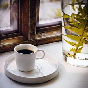 tasse et assiette stockholm d'ikea
