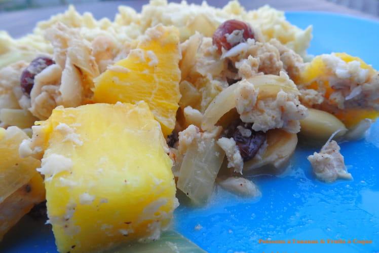 Filets de poissons à l'ananas et fruits à coque