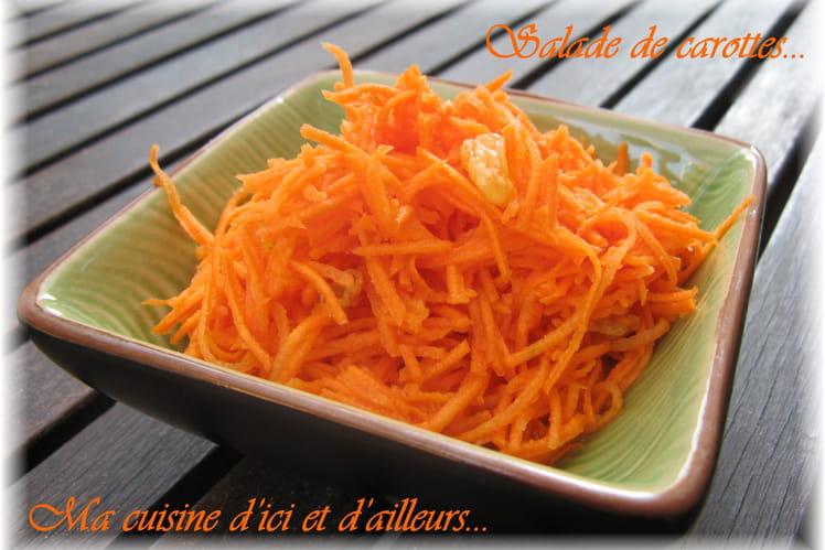 Salade de carottes et raisins secs à l'orange