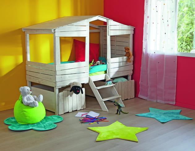 lit cabane woody wood d 39 alin a. Black Bedroom Furniture Sets. Home Design Ideas