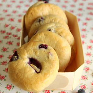 bagels aux myrtilles
