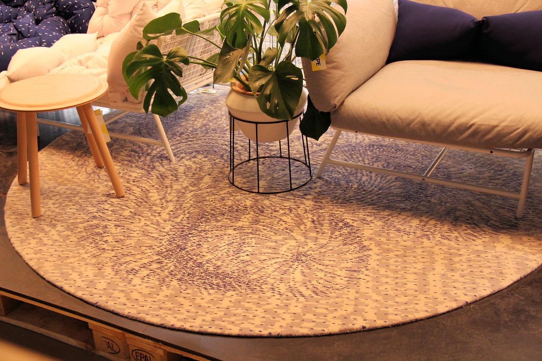 tapis rond ikea ps 2017. Black Bedroom Furniture Sets. Home Design Ideas