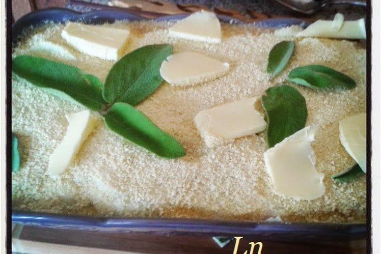 Hachis parmentier revisité : purée de pomme de terre céleri et hachis de veau à la sauge