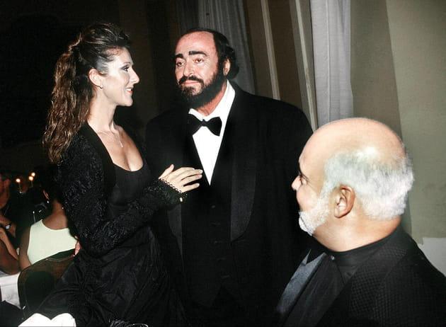 Avec Luciano Pavarotti, en concert pour le Liberia