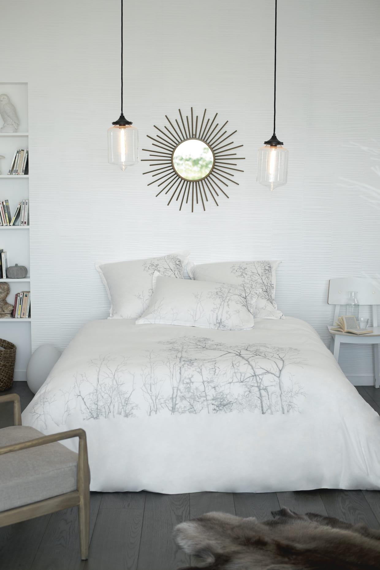 parure de lit charme par carr blanc. Black Bedroom Furniture Sets. Home Design Ideas