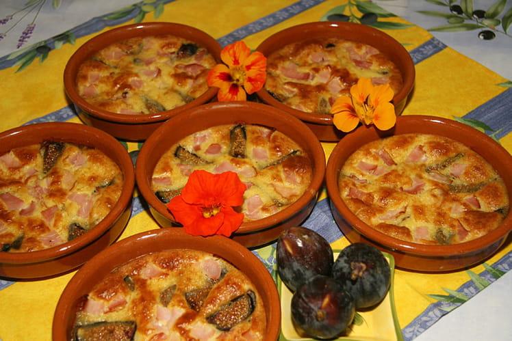 Clafoutis aux figues et bacon