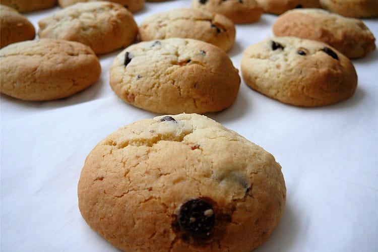 Cookies au pralin et au chocolat blanc