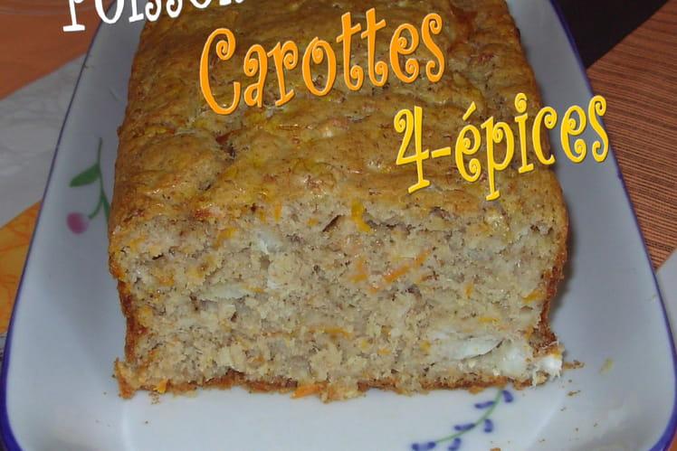 Cake au poisson, carottes et quatre-épices