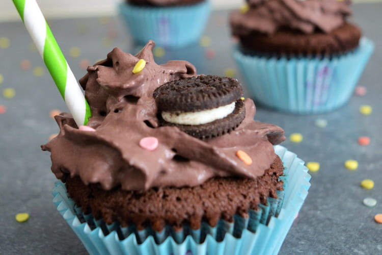 Cupcake Chocolat et Oreo