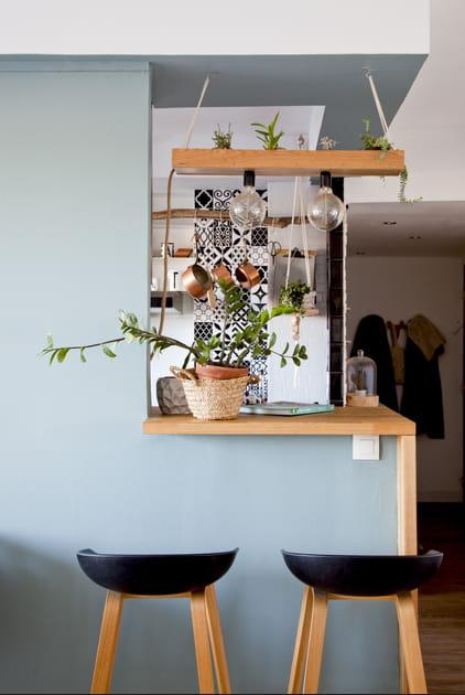 Suspension végétale DIY canon au-dessus du bar