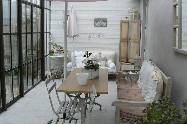 Un jardin d'hiver romantique