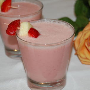smoothie pomme-fraises