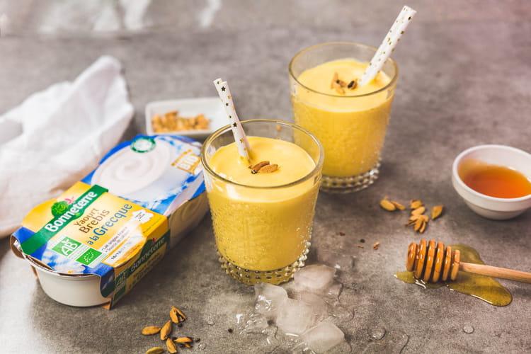 Lassi mangue au yaourt brebis
