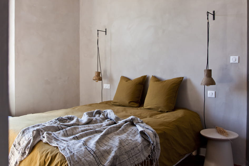 Une chambre wabi-sabi