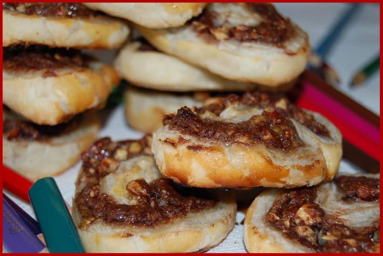 Feuilletés Nutella-noisettes