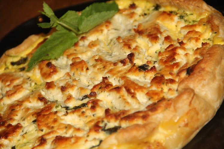 Recette de quiche aux courgettes boursin et menthe - Courgette boursin cuisine ...