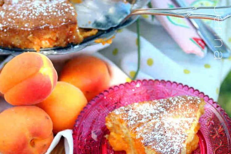 Biscuit à la vanille au coulis d'abricot à la lavande
