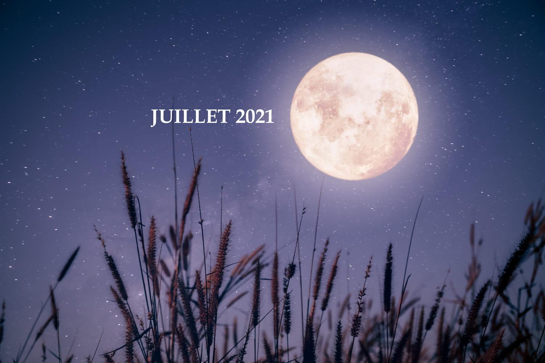 Calendrier lunaire au jardin juillet 2021