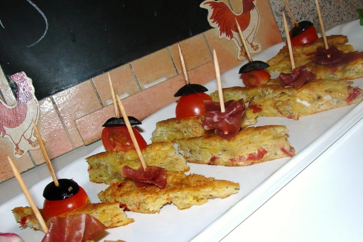 Omelette aux chips façon tapas