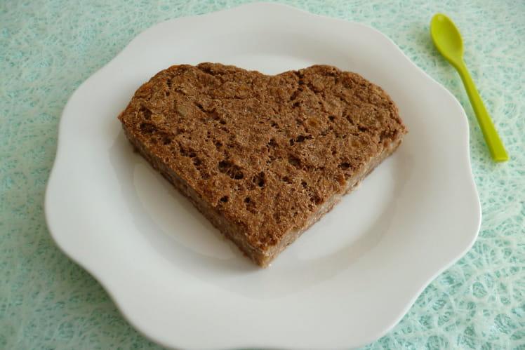 Tofucake cacao coco au muesli et au psyllium