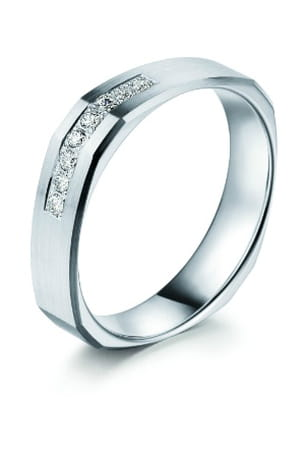 alliance platine et 8 diamants pfertzel