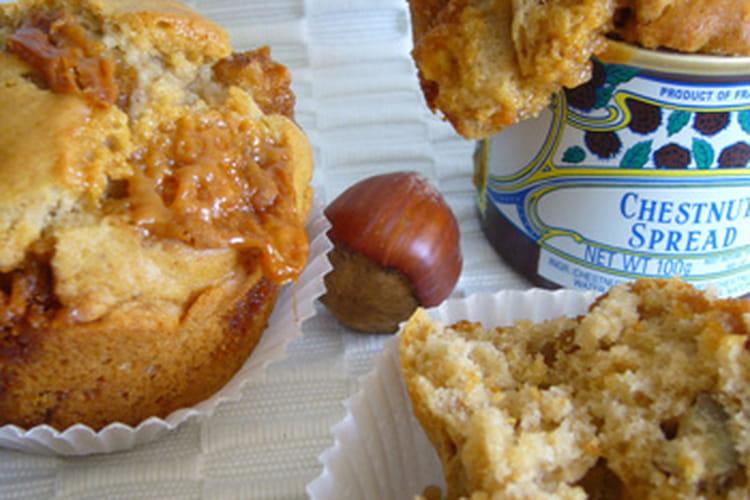 Muffins aux marrons, caramels et noisettes