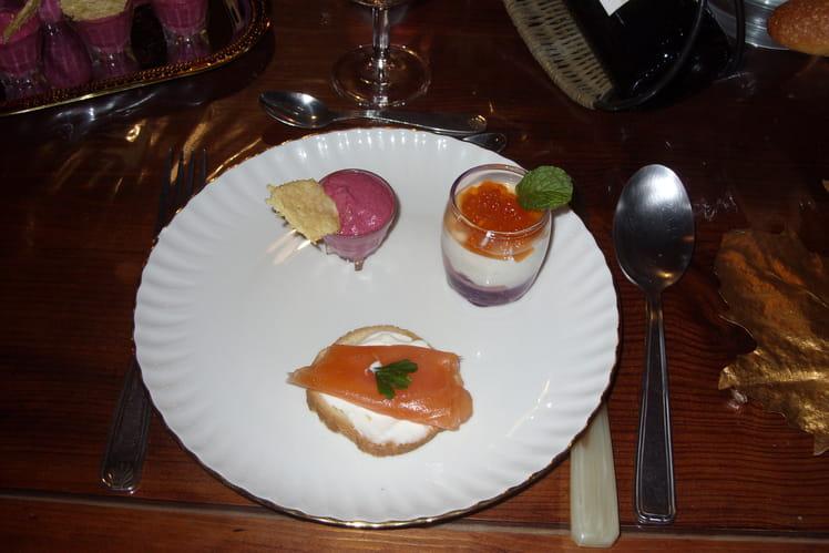 Verrines de saumon aux deux fromages