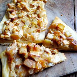 flammekueche ou tarte flambée alsacienne vegan