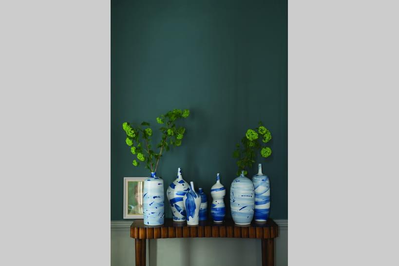 Peinture bleue et verte : de l\'exotisme sur nos murs
