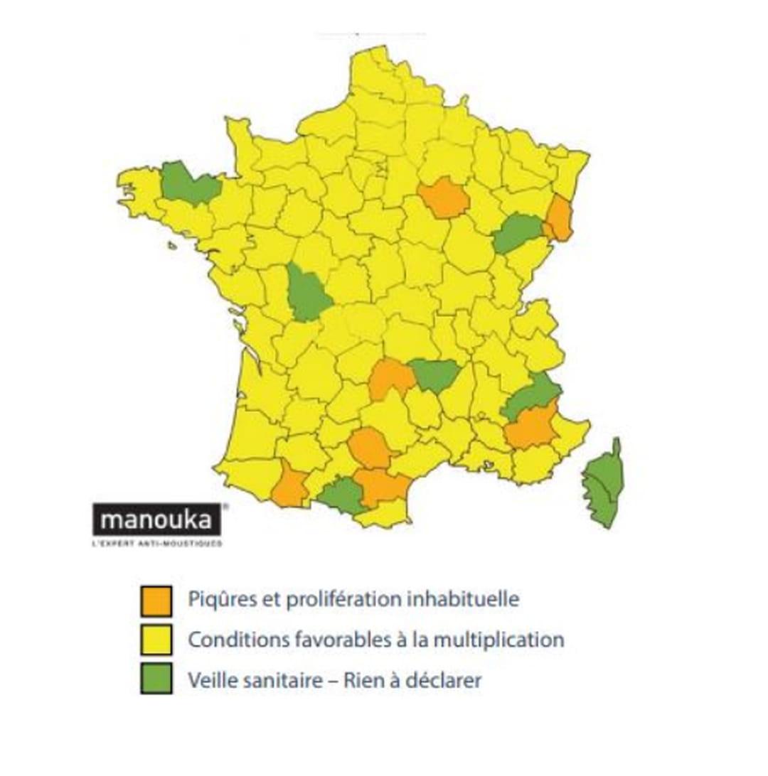 moustique tigre carte 2020 Piqûre de moustique : carte 2020 en France, symptômes, que faire ?