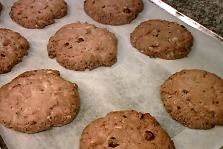Cookies au chocolat blanc et noisettes