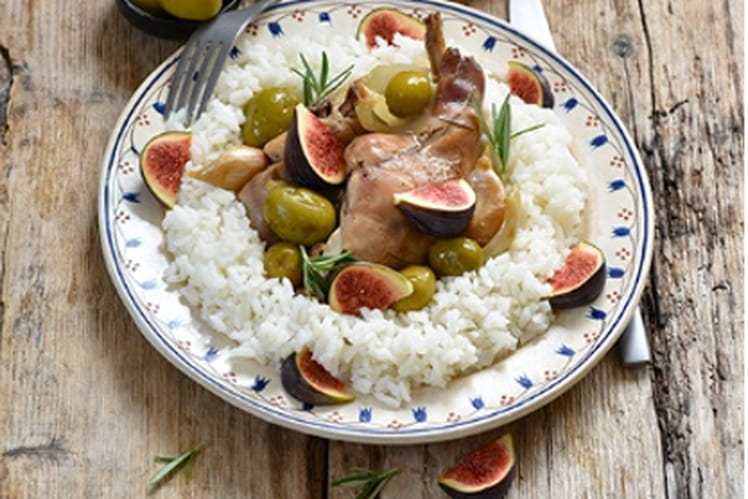 Lapin aux olives vertes d'Espagne Manzanilla