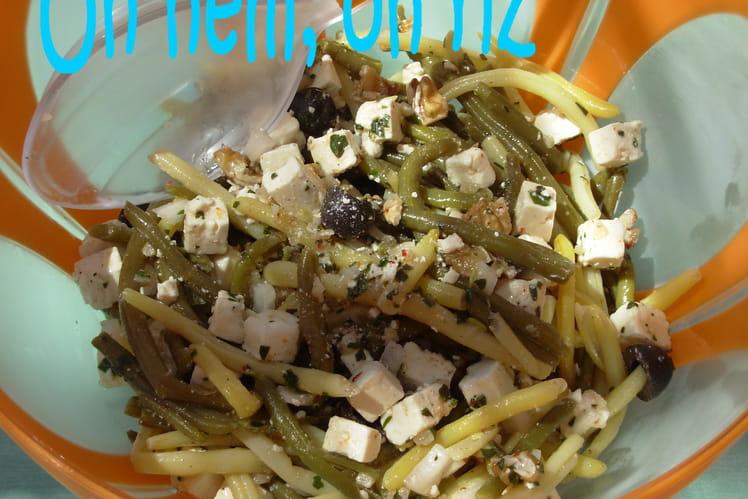 Salade aux deux haricots et à la féta