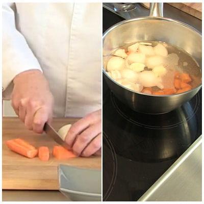 la préparation du bouillon