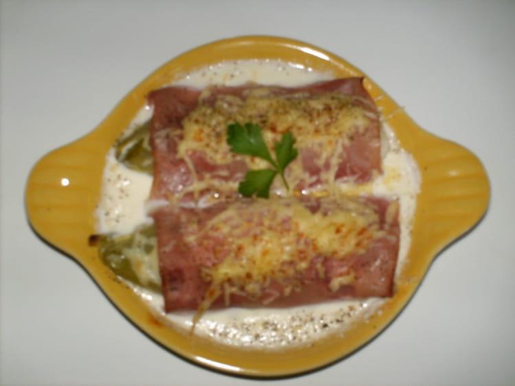 Recette endives l g res au jambon la recette facile - Cuisiner endives au jambon ...