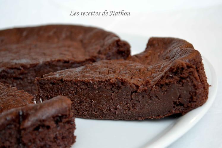 Moelleux-fondant au chocolat noir et à la banane