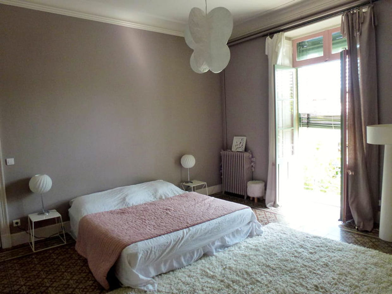 La chambre parentale au doux gris ros Chambre gris rose