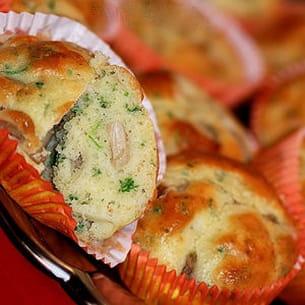 muffins aux champignons & roquefort