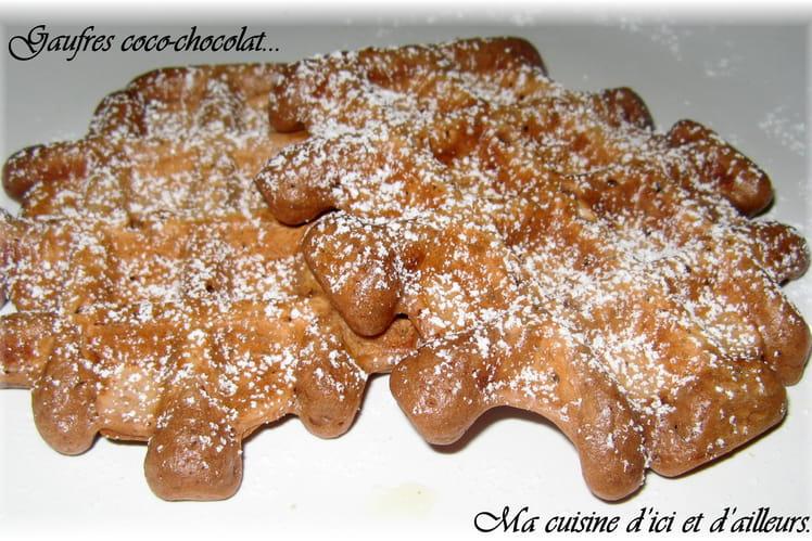 Gaufres coco-chocolat