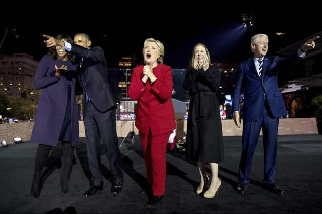 Les Obama et les Clinton, avant l'élection de Donald Trump