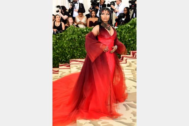 Nicki Minaj en Oscar de la Renta