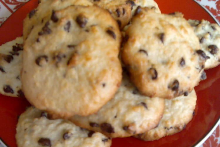 Cookies noix de coco, pépites chocolat sans lactose