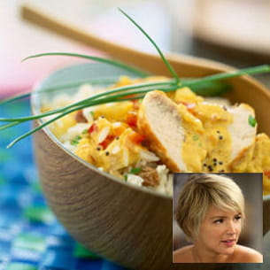 virginie efira : poulet-curry-coco
