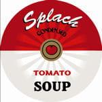 un tableau en référence à la fameuse boîte de soupe de warhol.